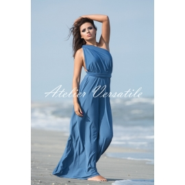 Rochie Versatila Albastru Prafuit
