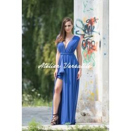 Rochie Versatila Glossy - Albastru Royal
