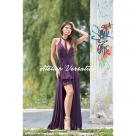 Rochie Versatila Glossy - Mov