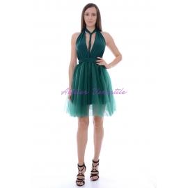 Rochie Versatila Tulle Verde Smarald